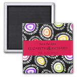 Lovely colourful funky flowers Magnet