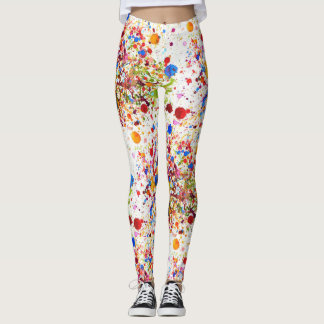 Lovely colourful happy art  Leggings