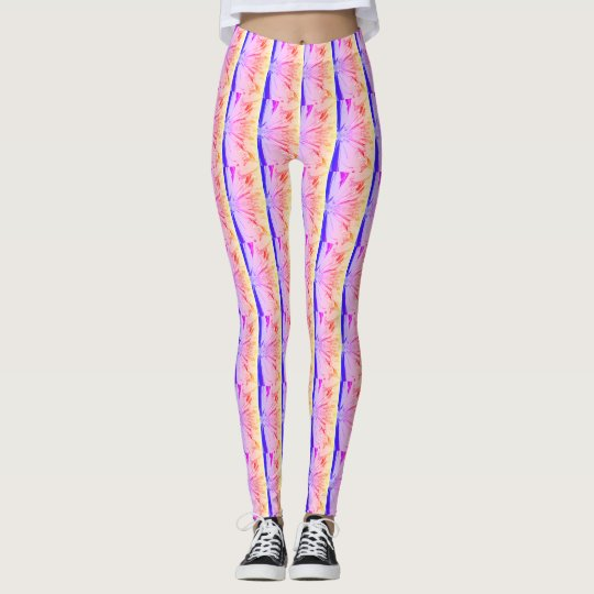 Lovely Colourful Summer Abstract Hot Pink Pattern Leggings