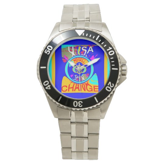 Lovely Colourful USA Change Time Watch