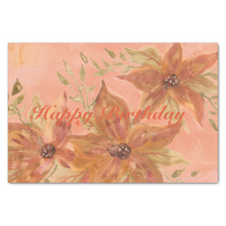 Lovely Coral Peach Watercolor Paper Products