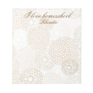 Lovely country floral notepad