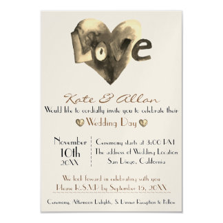 Lovely Customizeable Heart Wedding Invitation RSVP
