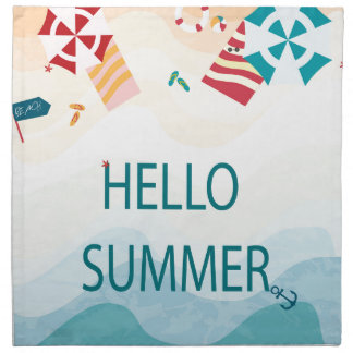 Lovely cute adorable sea beach funny item napkin