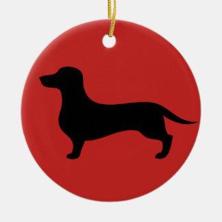 Lovely dachshund silhouette Christmas ornament