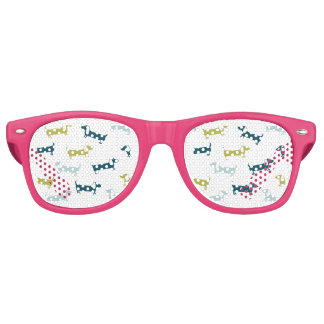 Lovely dachshunds in great colors retro sunglasses