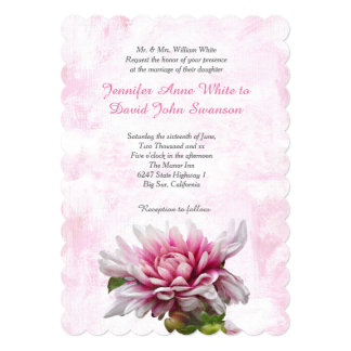 Lovely Dahlia Custom Wedding Invitation