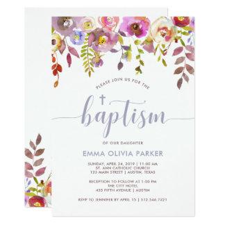 Lovely Delicate Floral | Baptism Invitation