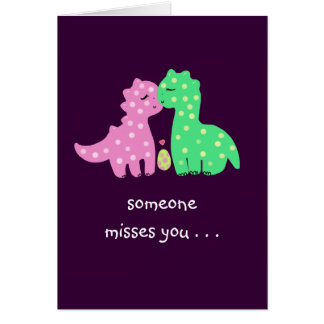 """""""Lovely Dinos"""" -'Someone Misses You' Card"""