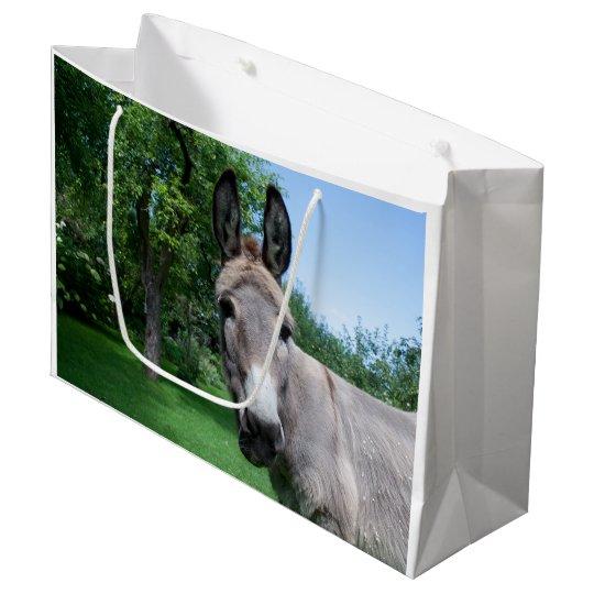 Lovely Donkey Portrait Large Gift Bag