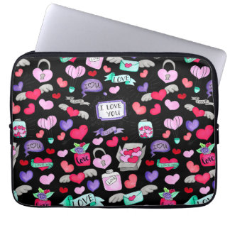 Lovely doodle laptop sleeve