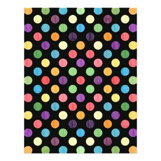 Lovely Dots Pattern IX Letterhead