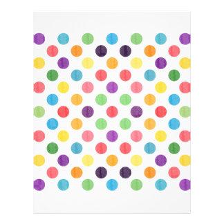 Lovely Dots Pattern VIII Letterhead