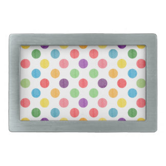 Lovely Dots Pattern VIII Rectangular Belt Buckle