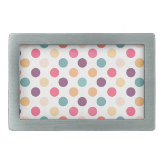 Lovely Dots Pattern XI Rectangular Belt Buckles