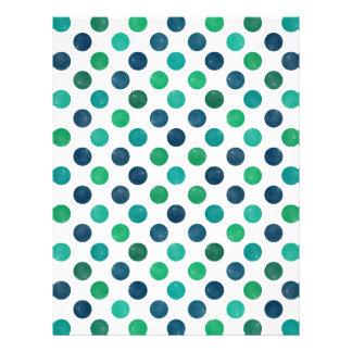 Lovely Dots Pattern XIV Letterhead