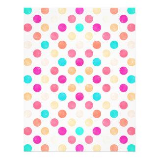 Lovely Dots Pattern XVI Letterhead