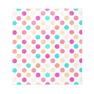 Lovely Dots Pattern XVI Notepad