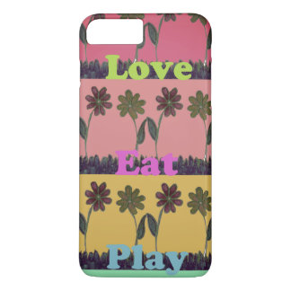 Lovely Eat Play Beautiful Fantastic Feminin colors iPhone 8 Plus/7 Plus Case