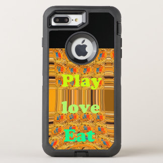 Lovely Eat play Custom Defender Series Case, OtterBox Defender iPhone 8 Plus/7 Plus Case