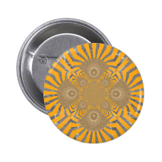 Lovely Edgy  amazing symmetrical pattern design 2 Inch Round Button