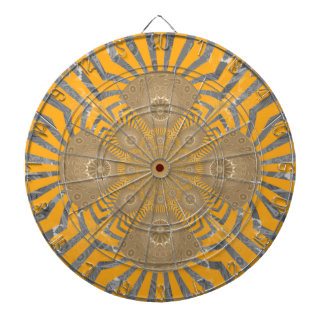 Lovely Edgy  amazing symmetrical pattern design Dartboard With Darts