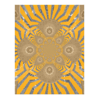 Lovely Edgy  amazing symmetrical pattern design Letterhead