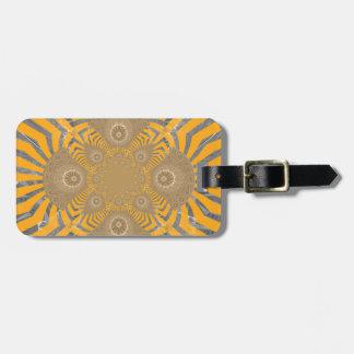 Lovely Edgy  amazing symmetrical pattern design Luggage Tag