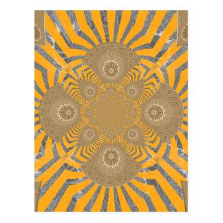 Lovely Edgy  amazing symmetrical pattern design Postcard