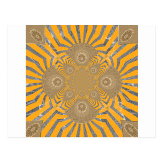 Lovely Edgy  amazing symmetrical pattern design Postcard