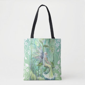 Lovely Fairy in Green Garden by Molly Harrison Tote Bag