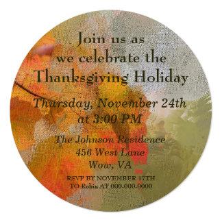 Lovely Fall Leaves Thanksgiving Holiday Dinner Card