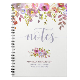Lovely Floral and Trendy Typography | Notes Notebook