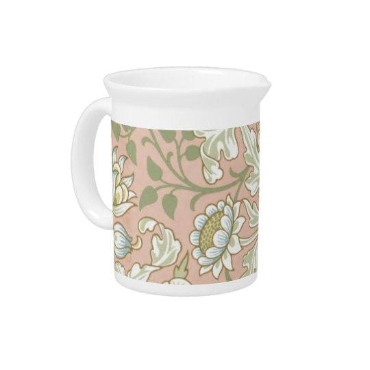 Lovely floral antique print pitcher