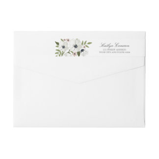 Lovely Floral Invitation Return Address Label Wraparound Return Address Label