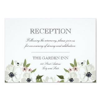 Lovely Floral Reception Card