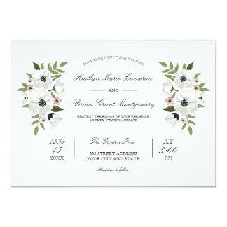 Lovely Floral Wedding Invitation