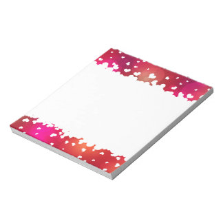 Lovely Flying Hearts Border - Notepad