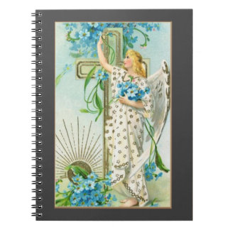 Lovely Forget Me Not Angel Notebook