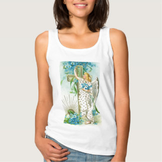 Lovely Forget Me Not Angel Tank Top
