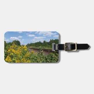 Lovely Garden and Rail Track Bag Tag