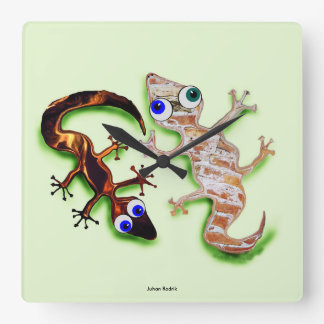 Lovely Gecko Wall Clocks