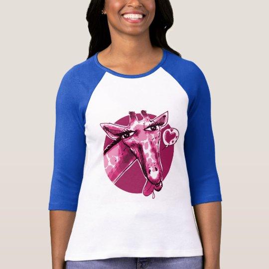 lovely giraffe cartoon style funny illustration T-Shirt