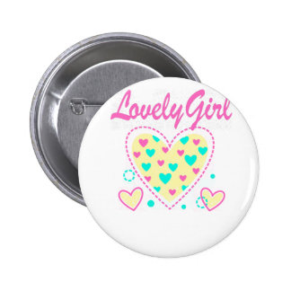 lovely girl heart cool design 2 inch round button