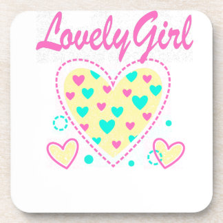 lovely girl heart cool design coaster