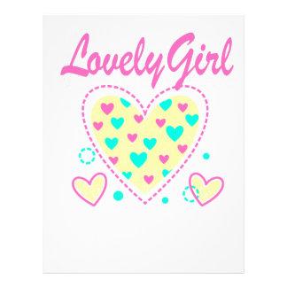 lovely girl heart cool design letterhead