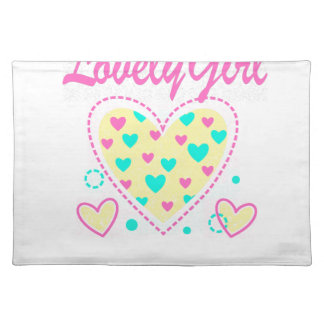 lovely girl heart cool design placemat