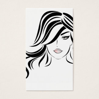 Lovely girl with wavy hair and Makeup Icon Business Card