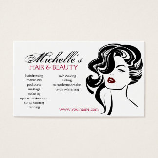Lovely girl with wavy hair Makeup Icon Business Card