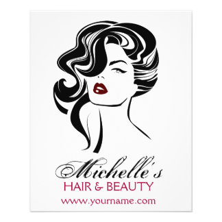 Lovely girl with wavy hair Makeup Icon Flyer